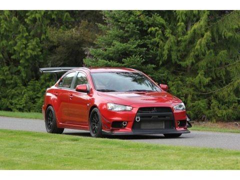Rally Red Metallic 2008 Mitsubishi Lancer Evolution MR