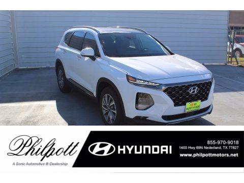 Quartz White 2020 Hyundai Santa Fe Limited