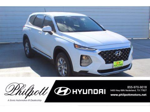 Quartz White 2020 Hyundai Santa Fe SE