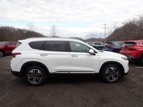 Quartz White 2020 Hyundai Santa Fe Limited 2.0 AWD