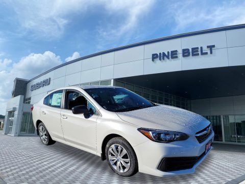 Crystal White Pearl 2021 Subaru Impreza Sedan