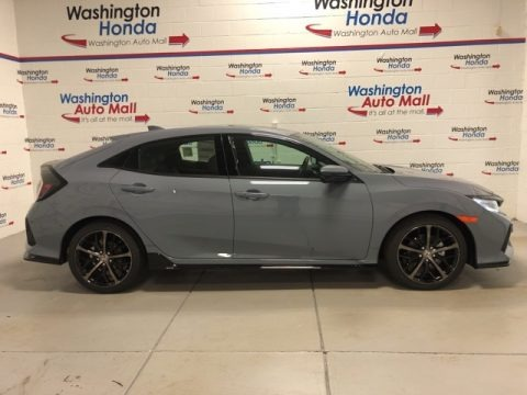 Sonic Gray Pearl 2021 Honda Civic Sport Touring Hatchback