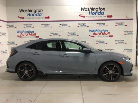 Sonic Gray Pearl 2021 Honda Civic Sport Hatchback