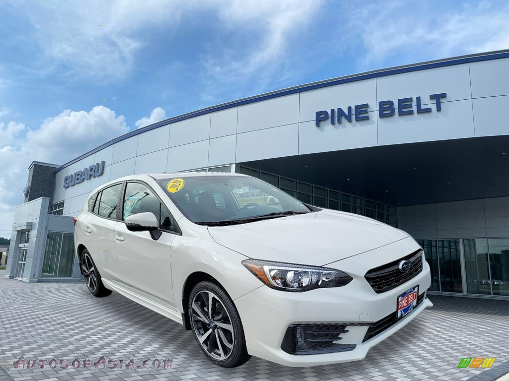 2020 Impreza Sport 5-Door - Crystal White Pearl / Black photo #1