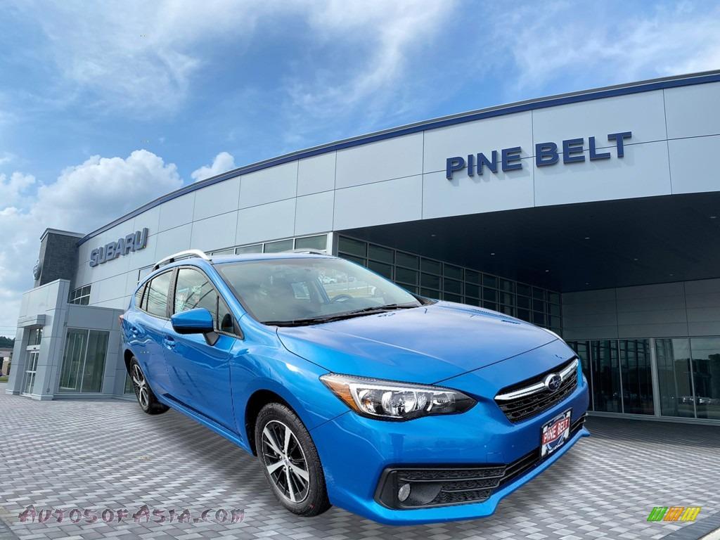 2020 Impreza Premium 5-Door - Ocean Blue Pearl / Black photo #1