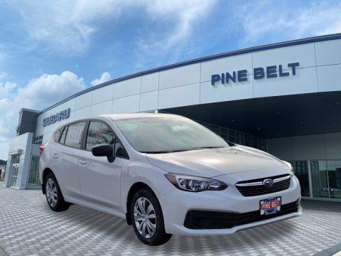 Crystal White Pearl 2021 Subaru Impreza 5-Door