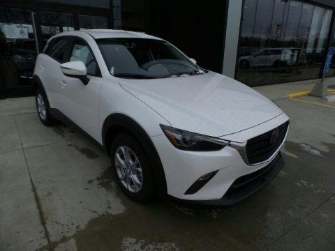 Snowflake White Pearl Mica 2021 Mazda CX-3 Sport AWD