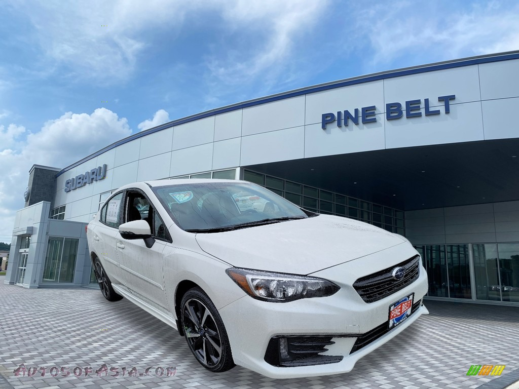 2021 Impreza Sport Sedan - Crystal White Pearl / Black photo #1