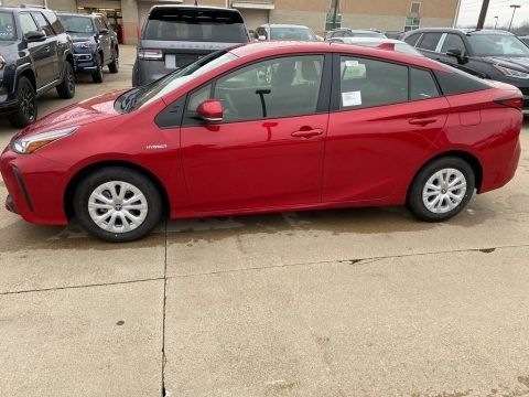 Supersonic Red 2021 Toyota Prius LE