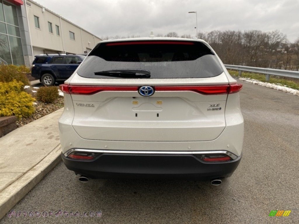 2021 Venza Hybrid XLE AWD - Blizzard White Pearl / Black photo #14