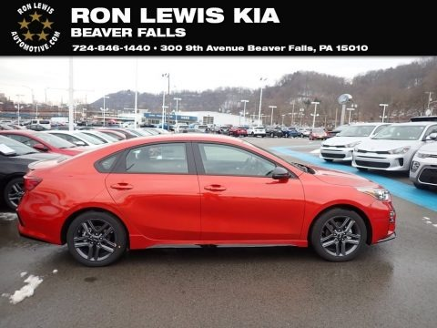 Fire Orange 2021 Kia Forte GT-Line