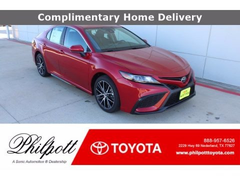 Supersonic Red 2021 Toyota Camry SE
