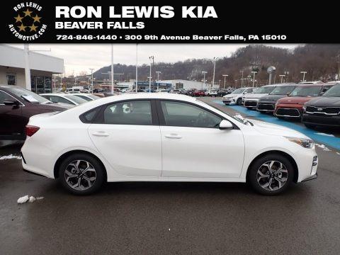 Clear White 2021 Kia Forte LXS