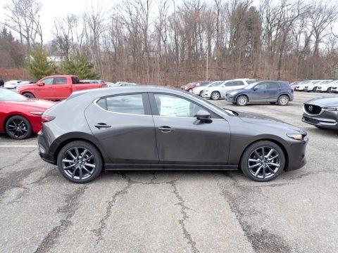 Machine Gray Metallic 2021 Mazda Mazda3 Select Hatchback AWD