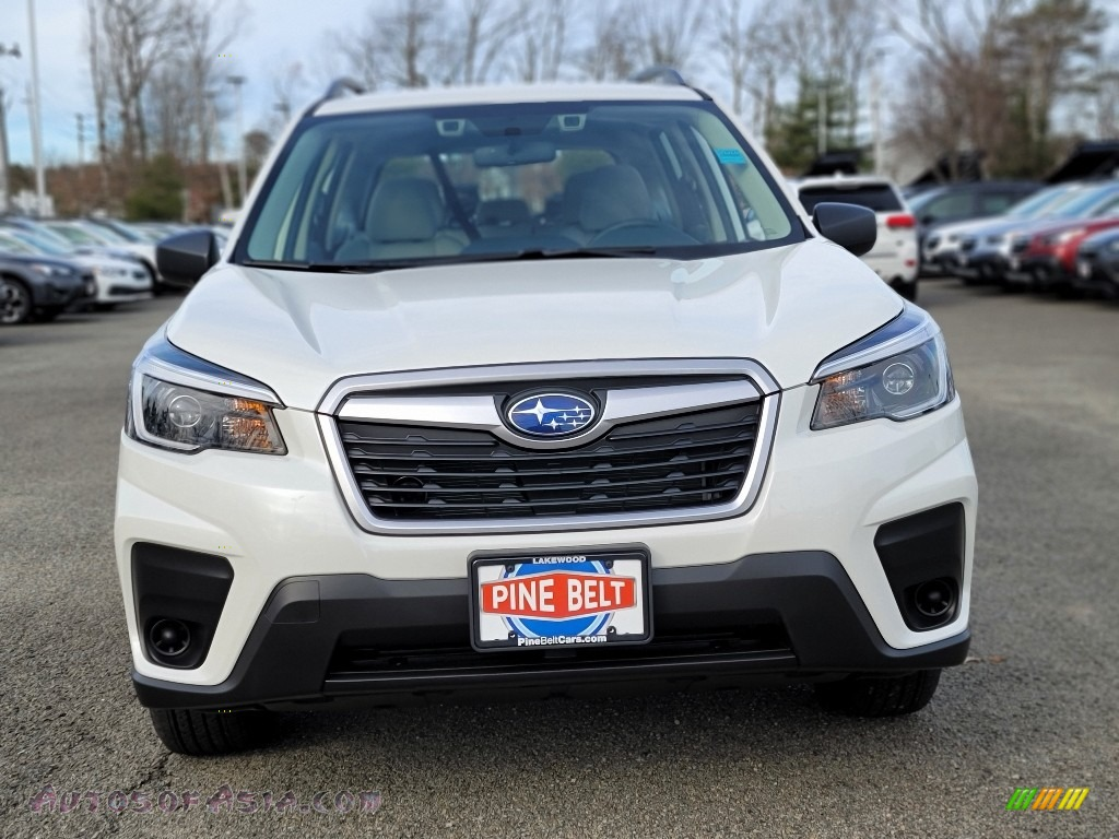 2021 Forester 2.5i - Crystal White Pearl / Gray photo #3