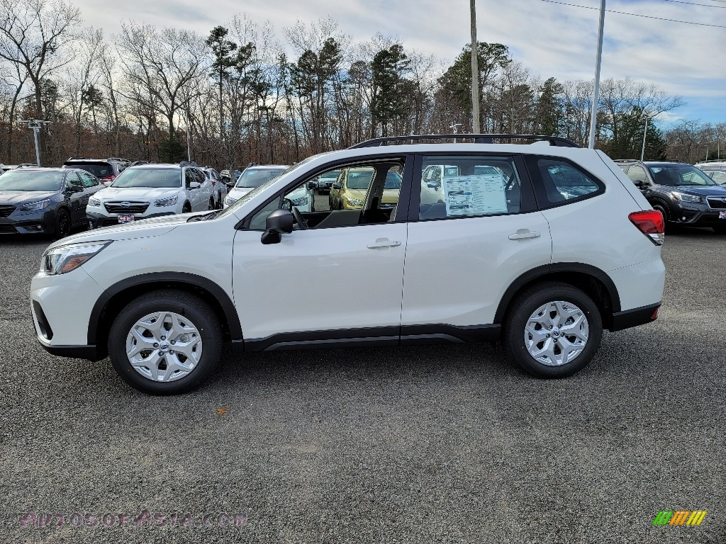 2021 Forester 2.5i - Crystal White Pearl / Gray photo #4