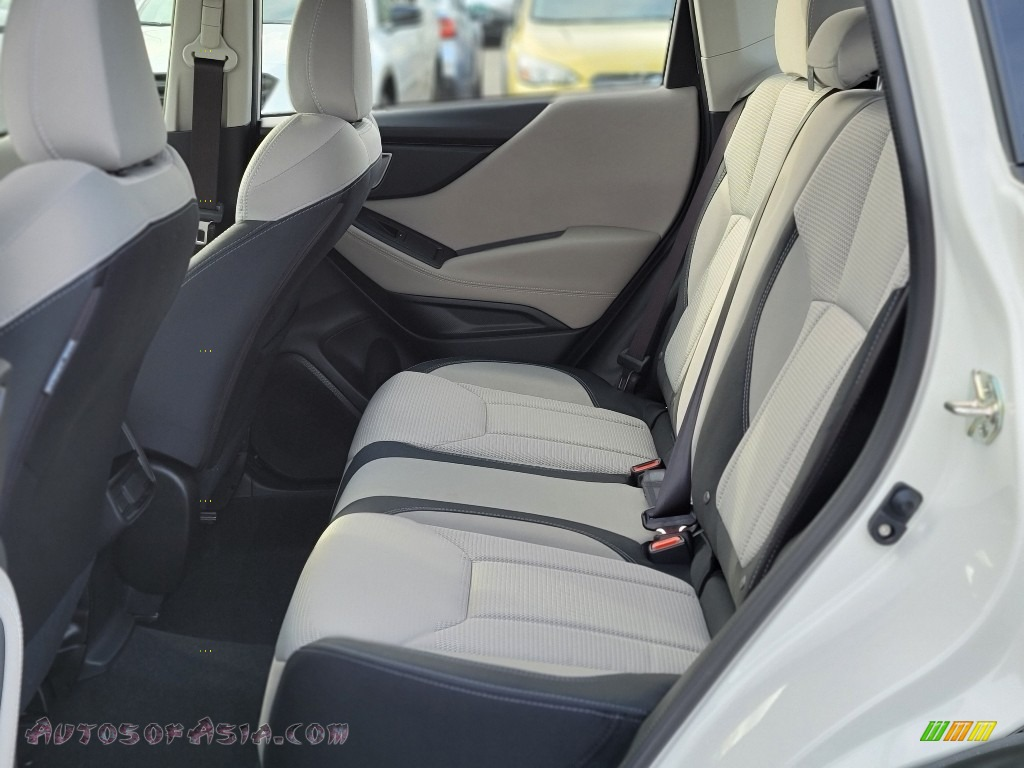 2021 Forester 2.5i - Crystal White Pearl / Gray photo #9