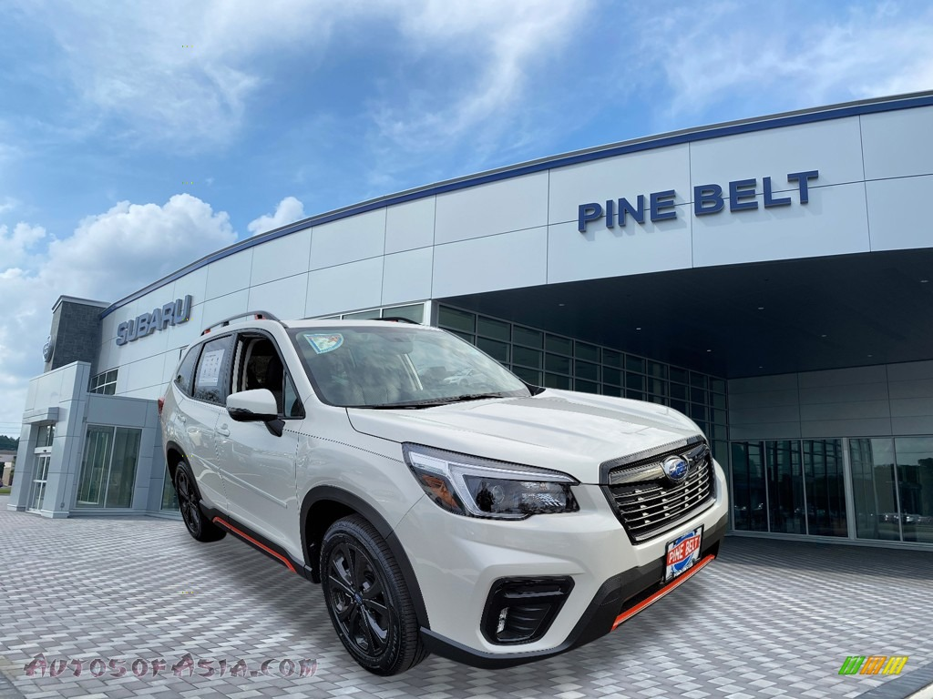 2021 Forester 2.5i Sport - Crystal White Pearl / Black photo #1