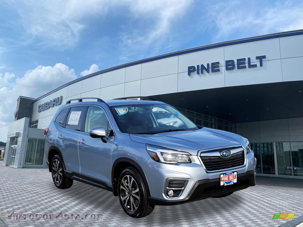 2021 Forester 2.5i Limited - Ice Silver Metallic / Black photo #1