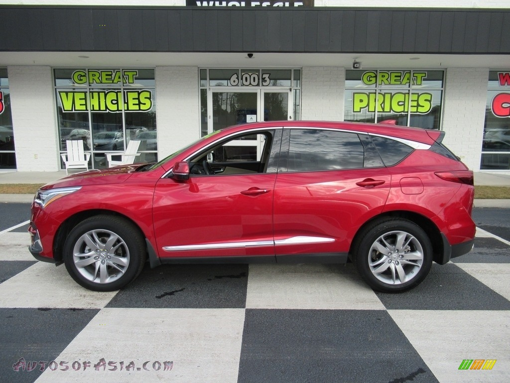 2020 RDX Advance AWD - Performance Red Pearl / Parchment photo #1