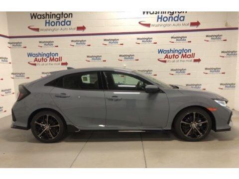 Sonic Gray Pearl 2021 Honda Civic EX Hatchback