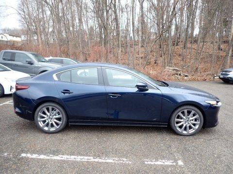 Deep Crystal Blue Mica 2021 Mazda Mazda3 Preferred Sedan AWD