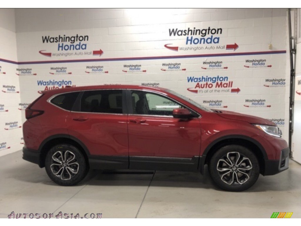 2021 CR-V EX-L AWD - Radiant Red Metallic / Gray photo #1