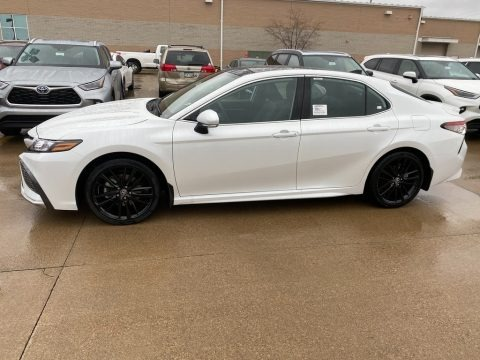 Wind Chill Pearl 2021 Toyota Camry XSE AWD