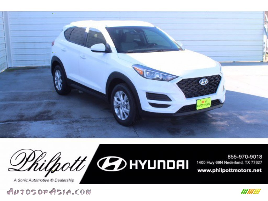 White Cream / Gray Hyundai Tucson Value