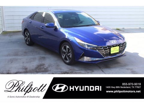 Intense Blue 2021 Hyundai Elantra SEL