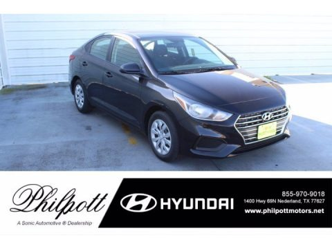 Absolute Black 2021 Hyundai Accent SE