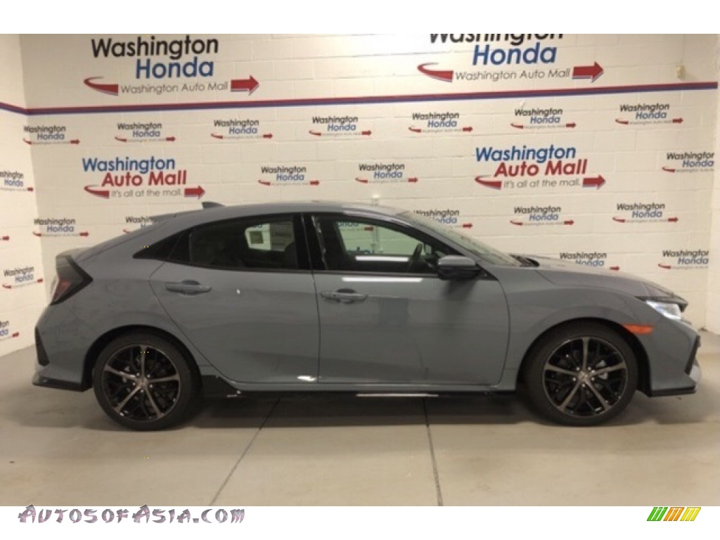 2021 Civic Sport Hatchback - Sonic Gray Pearl / Black photo #1