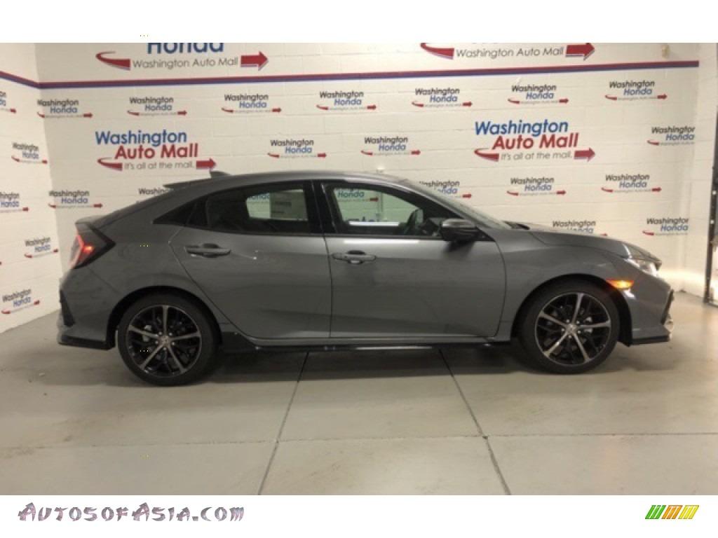 2021 Civic EX Hatchback - Polished Metal Metallic / Black photo #1