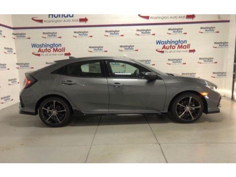 Polished Metal Metallic 2021 Honda Civic EX Hatchback