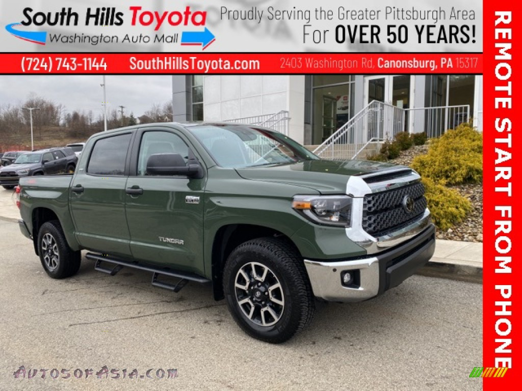 2021 Tundra SR5 CrewMax 4x4 - Army Green / Black photo #1