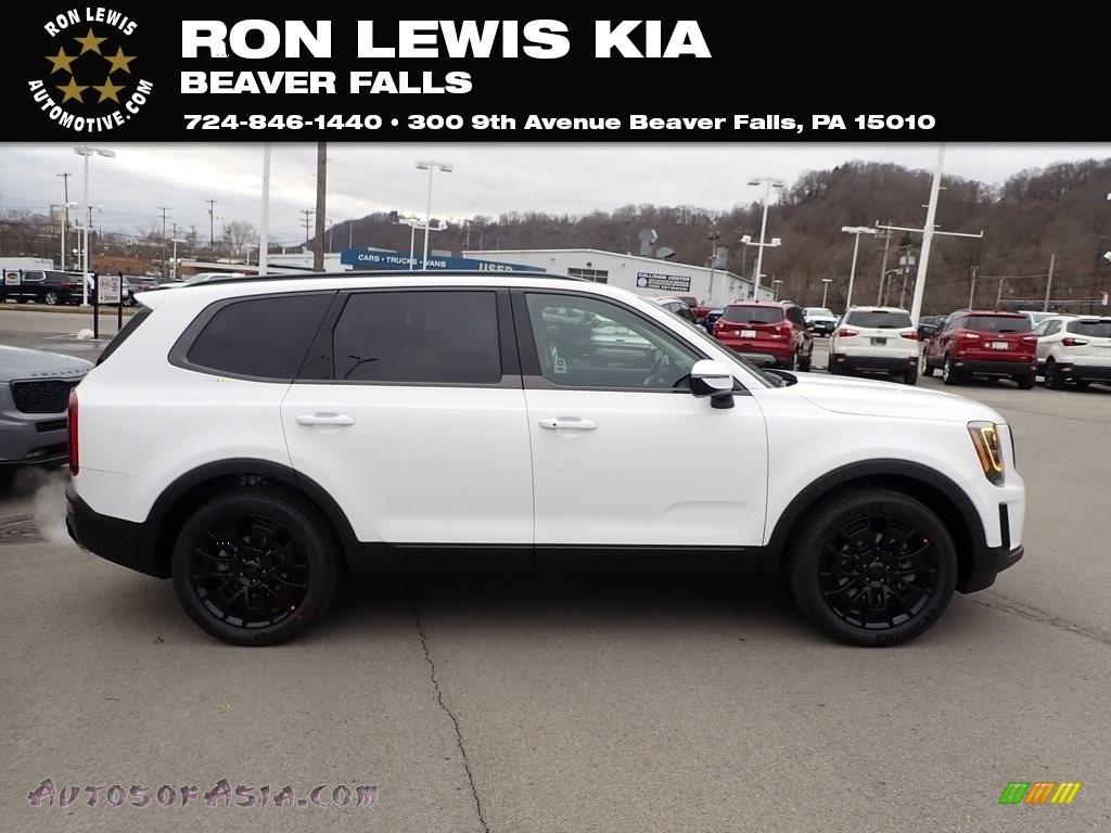 Snow White Pearl / Black Kia Telluride SX AWD