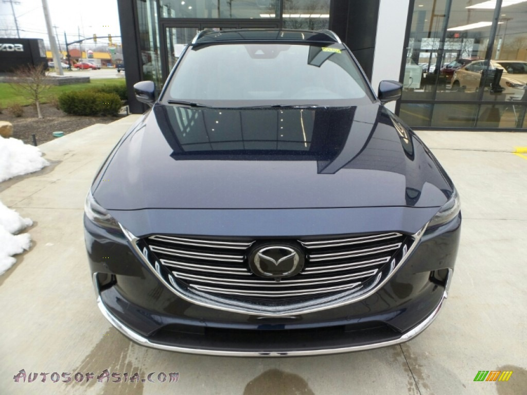 Deep Crystal Blue Mica / Black Mazda CX-9 Grand Touring AWD