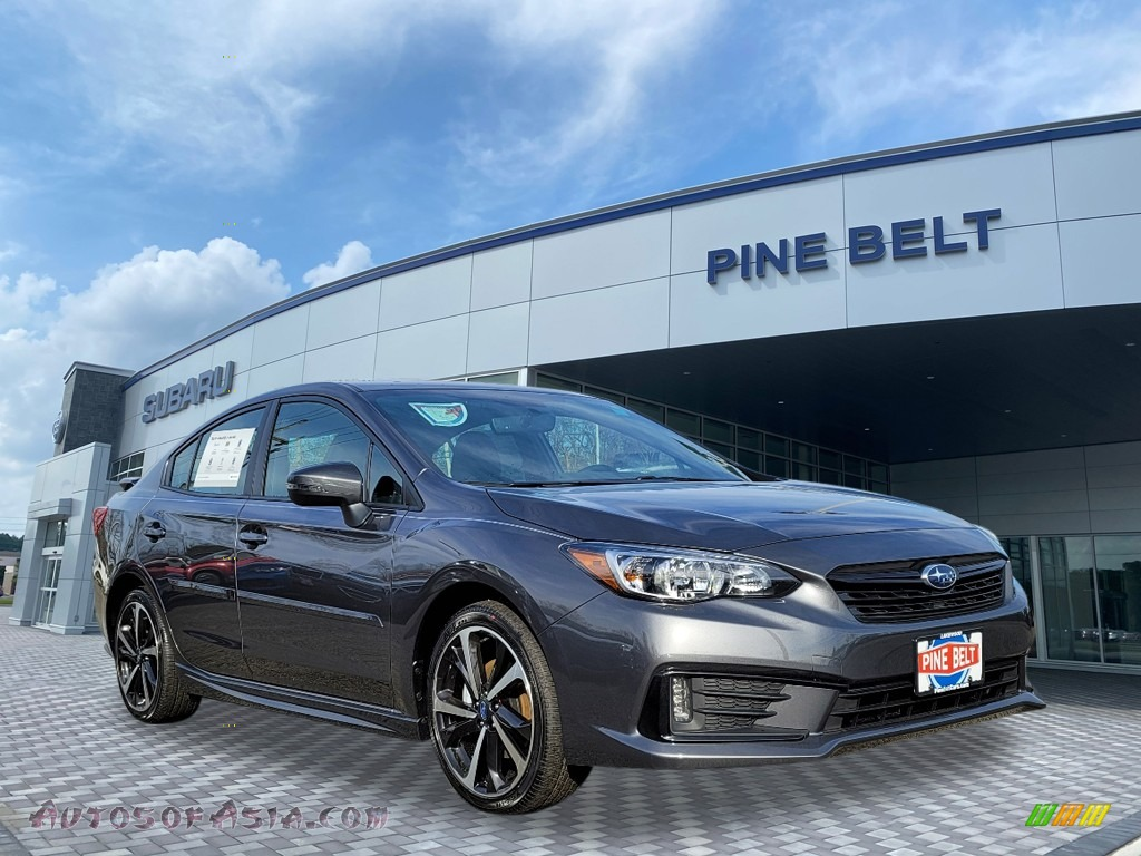 Magnetite Gray Metallic / Black Subaru Impreza Sport Sedan