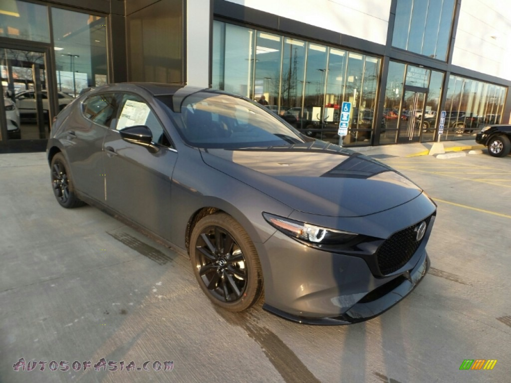 2021 Mazda3 Premium Plus Hatchback AWD - Polymetal Gray Metallic / Black photo #2