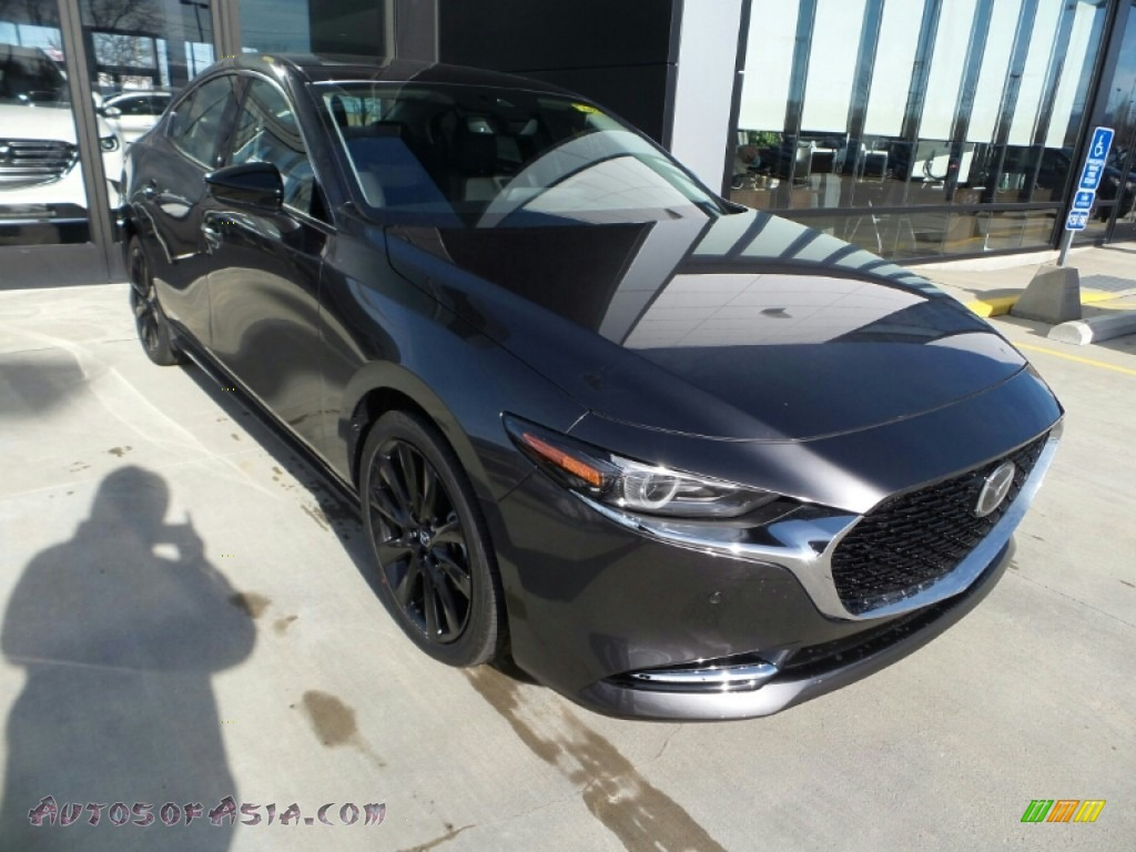 2021 Mazda3 Premium Plus Sedan AWD - Machine Gray Metallic / Black photo #1