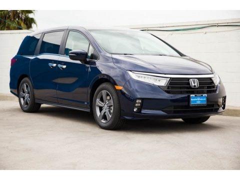 Obsidian Blue Pearl 2021 Honda Odyssey EX