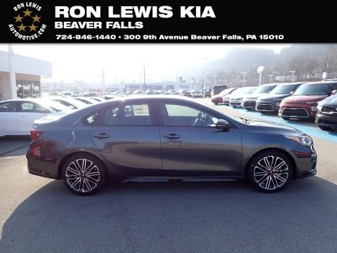 Gravity Gray 2021 Kia Forte GT