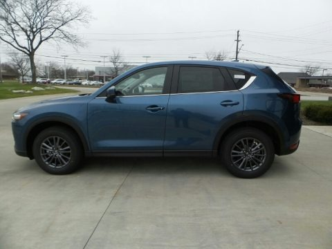 Eternal Blue Mica 2021 Mazda CX-5 Touring AWD
