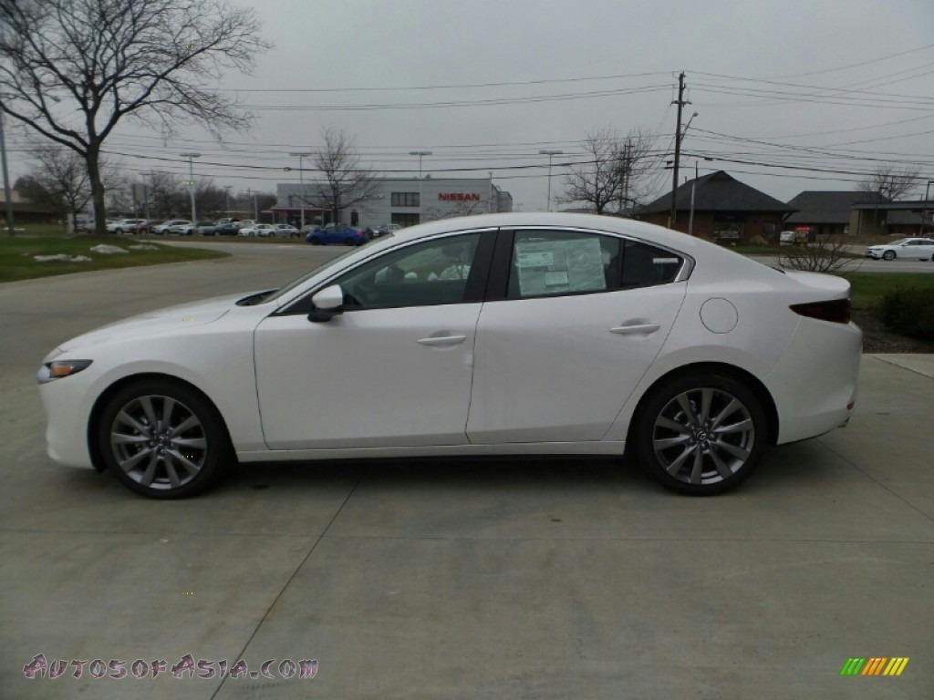 2021 Mazda3 Select Sedan AWD - Snowflake White Pearl Mica / Black photo #1