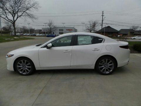 Snowflake White Pearl Mica 2021 Mazda Mazda3 Select Sedan AWD