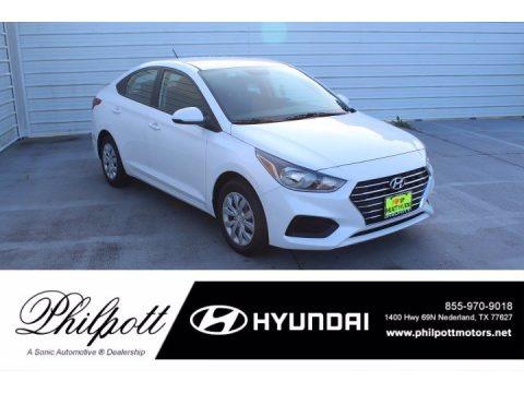 Frost White Pearl 2021 Hyundai Accent SE