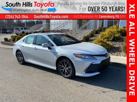 Wind Chill Pearl 2021 Toyota Camry XLE AWD