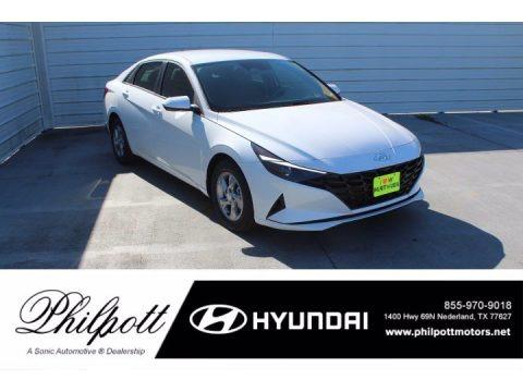 Quartz White 2021 Hyundai Elantra SE