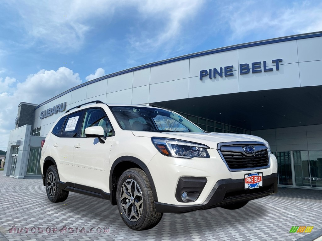 2021 Forester 2.5i Premium - Crystal White Pearl / Gray photo #1
