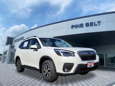 Crystal White Pearl 2021 Subaru Forester 2.5i Premium